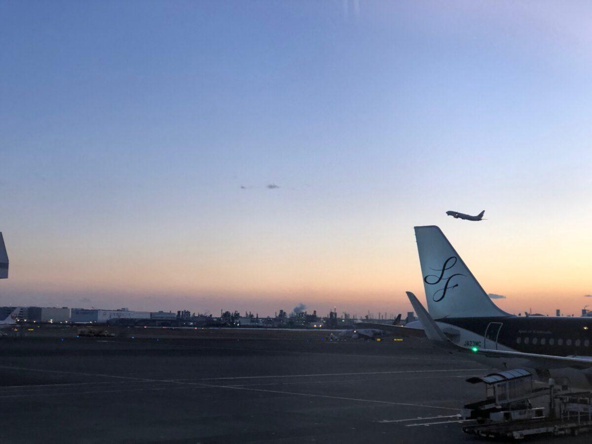 徳島へ向かう羽田空港で